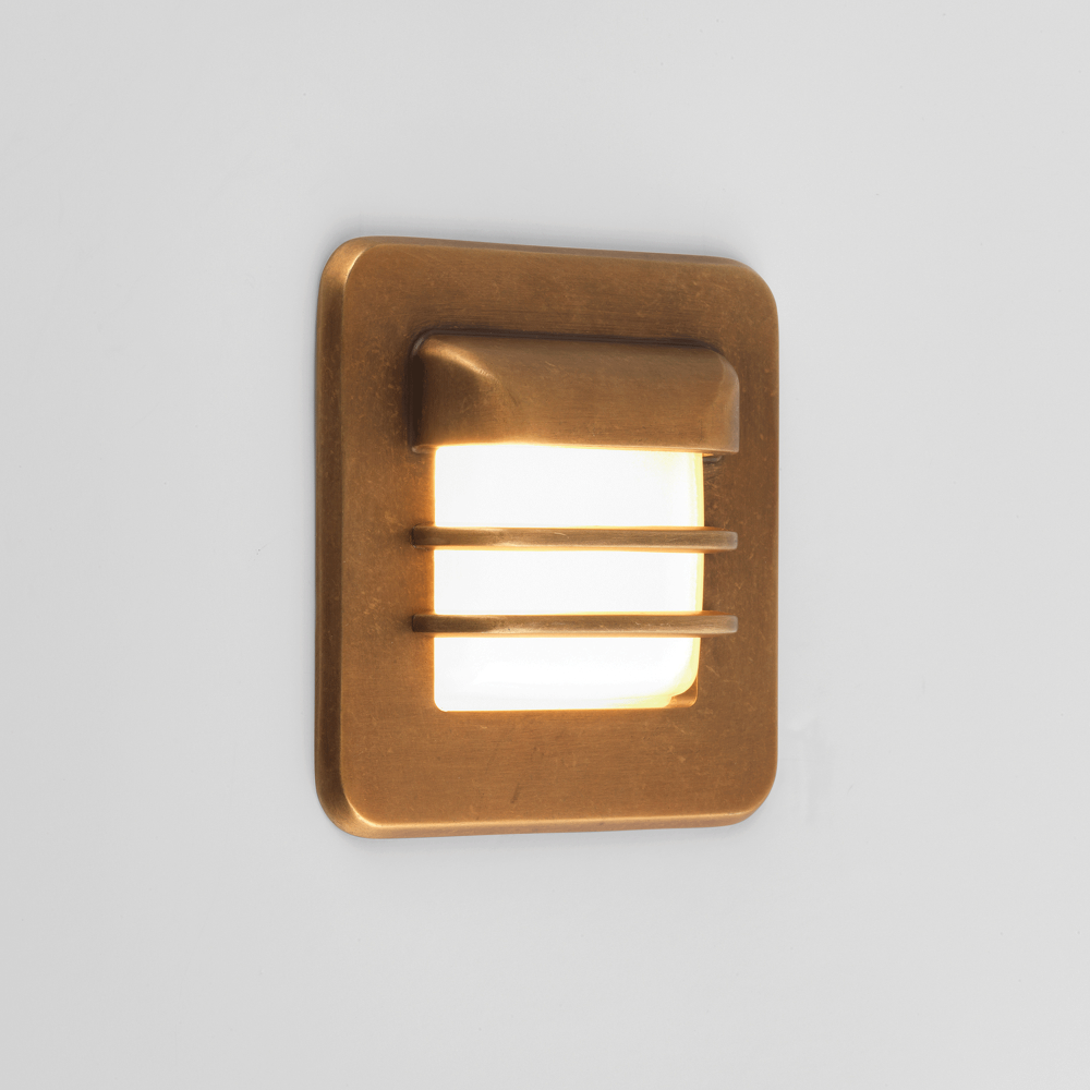 astro lighting 7877 arran square coastal exterior recessed wall light