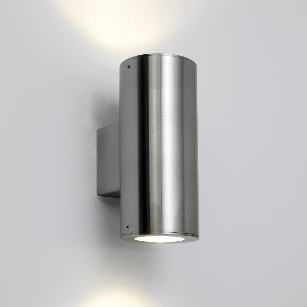Astro 0381 Detroit Twin Exterior Light Brushed Stainless Steel
