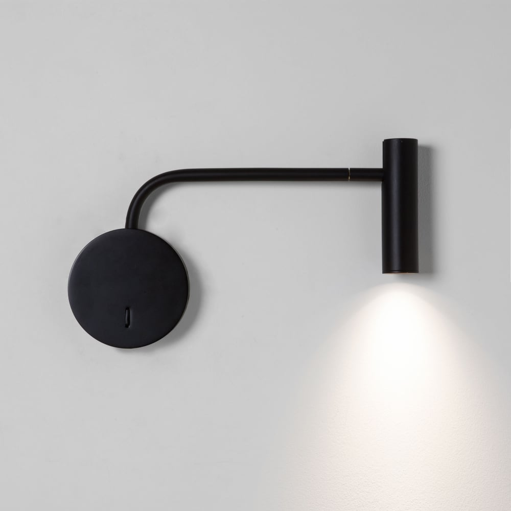 Astro lighting 7592 enna wall led black reading wall light enna wall led black reading wall light aloadofball Images