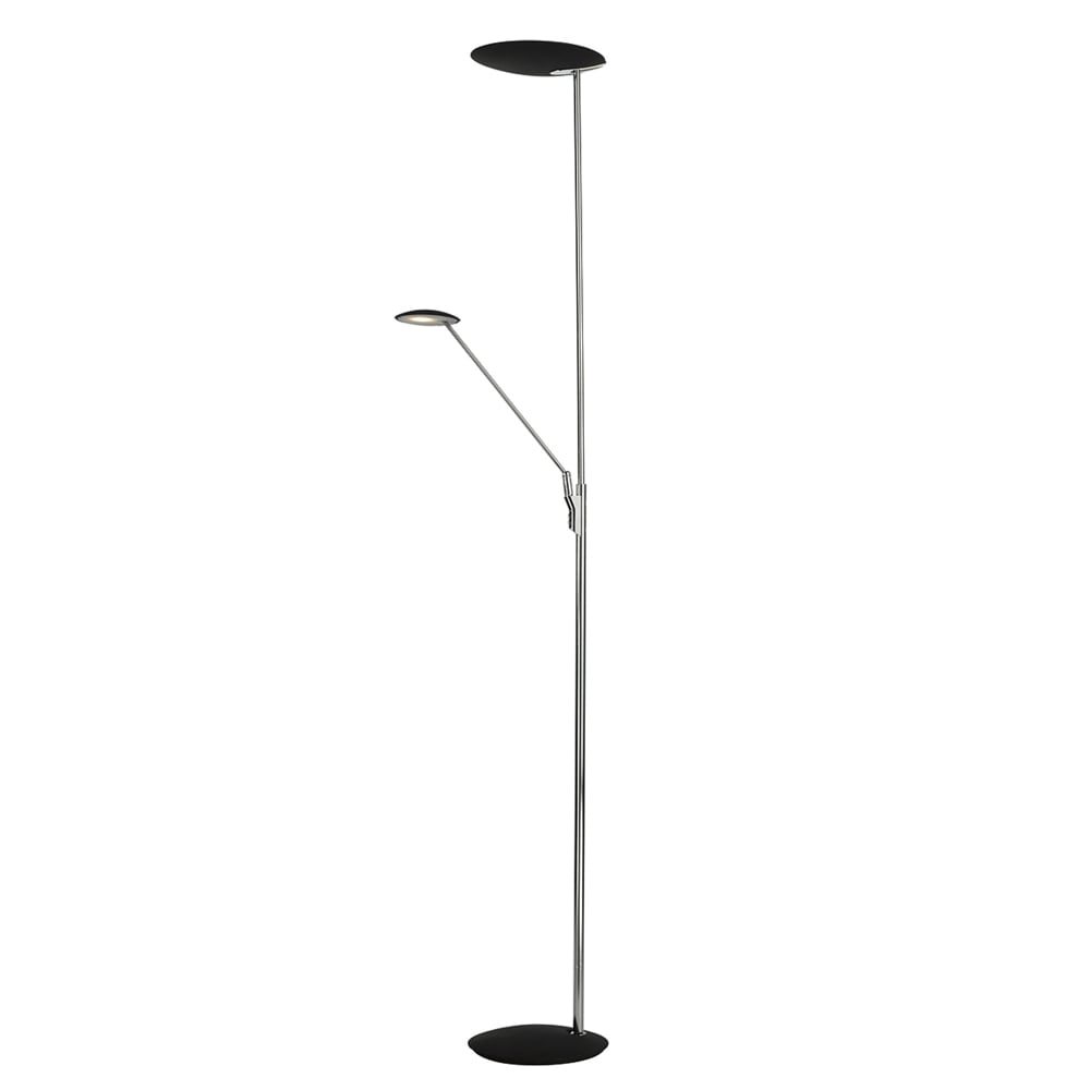 Dar lighting oundle mother and child floor lamp in chrome and black oundle mother and child floor lamp in chrome and black aloadofball Images