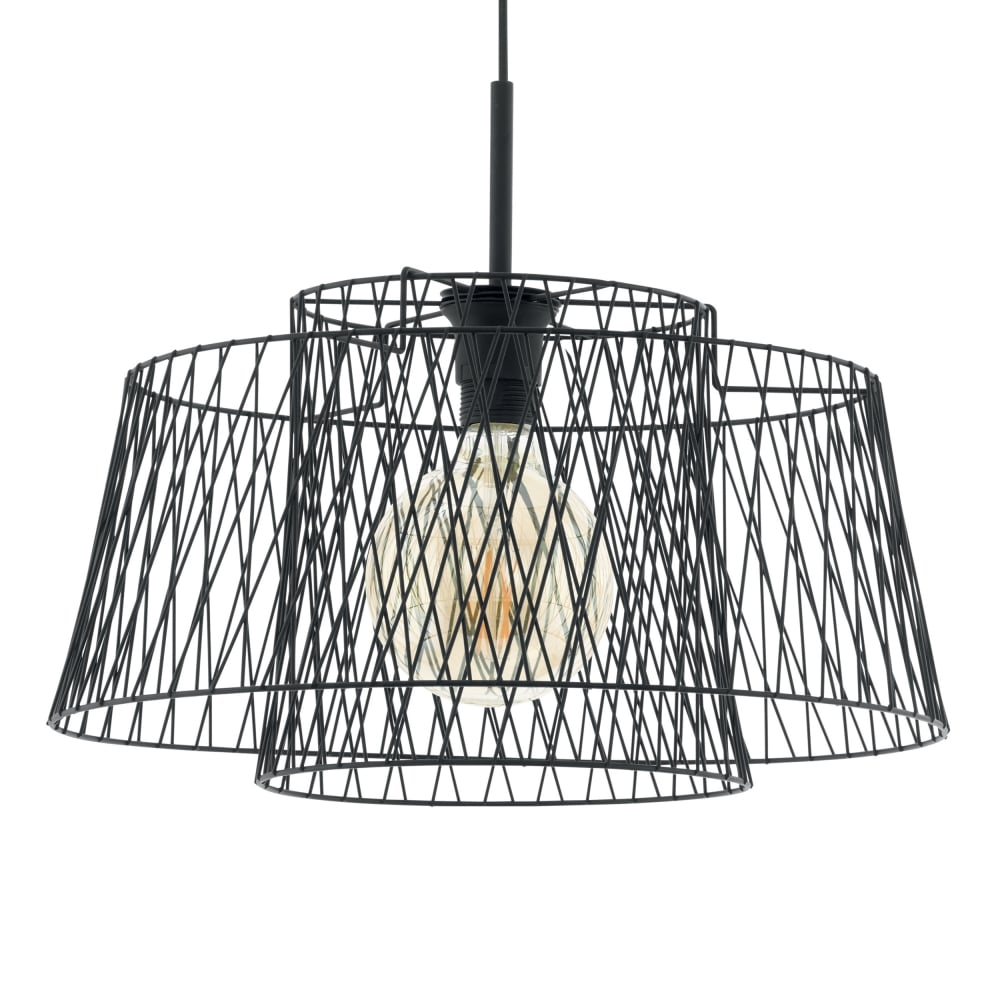 Eglo 49996 Allerby LED Black Wire Cage Pendant Light