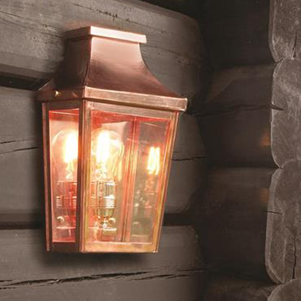 Elstead Lighting Chelsea CS7-2 Copper Half Exterior Wall Light ...