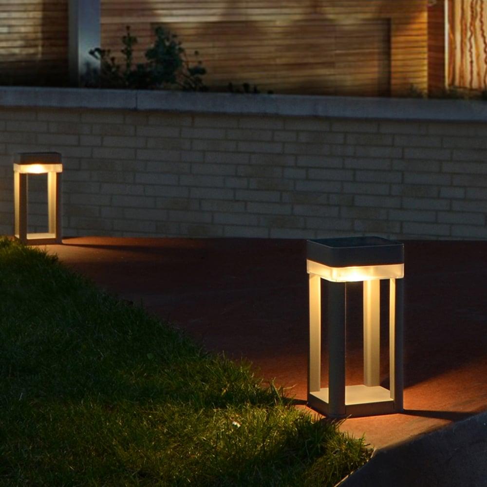 Lutec Table Cube Portable Solar Powered Led Bollard Light